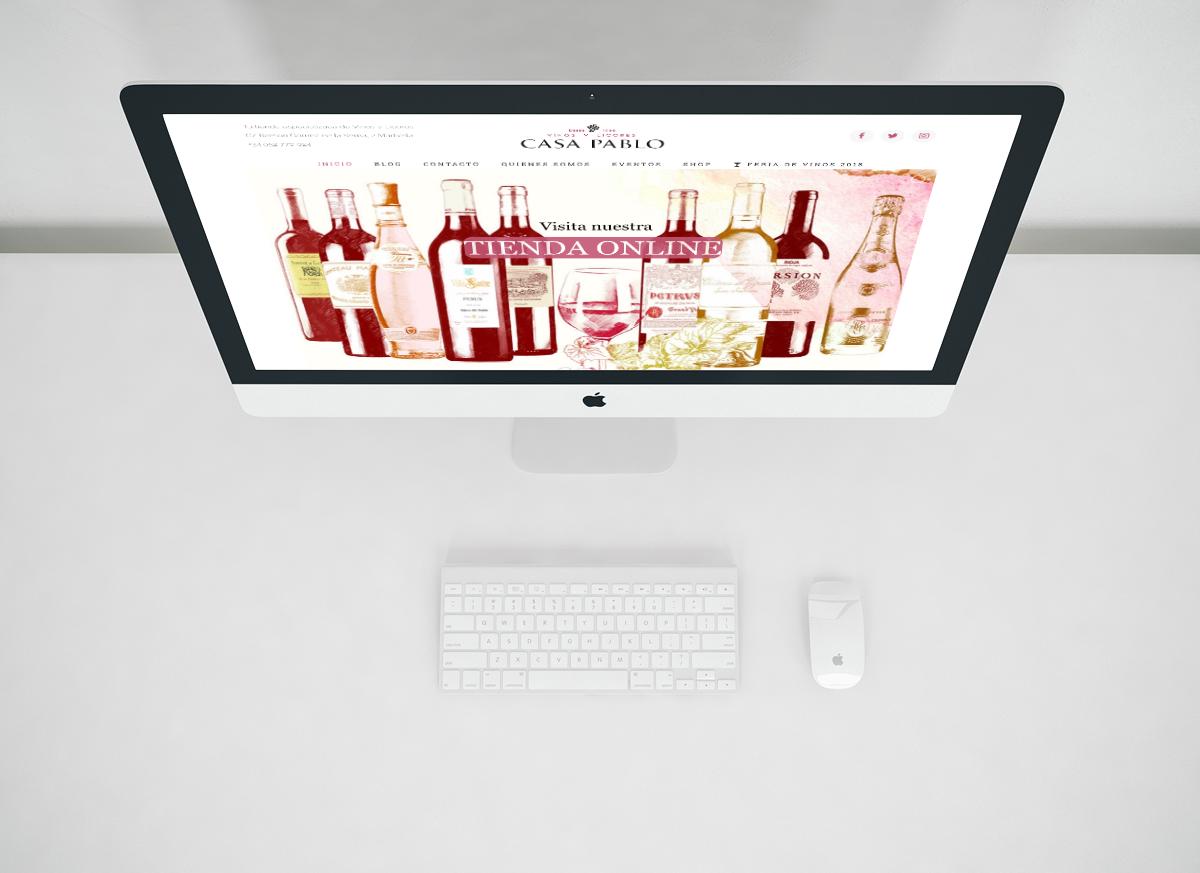 Diseño web tienda especializada en vinos y licores Marbella | eneSSima