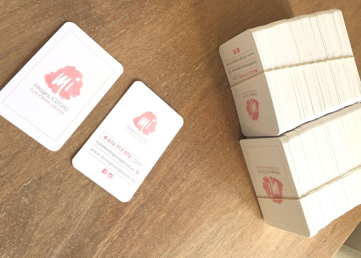 Imagen corporativa - tarjetas de visita Milagros Iglesias