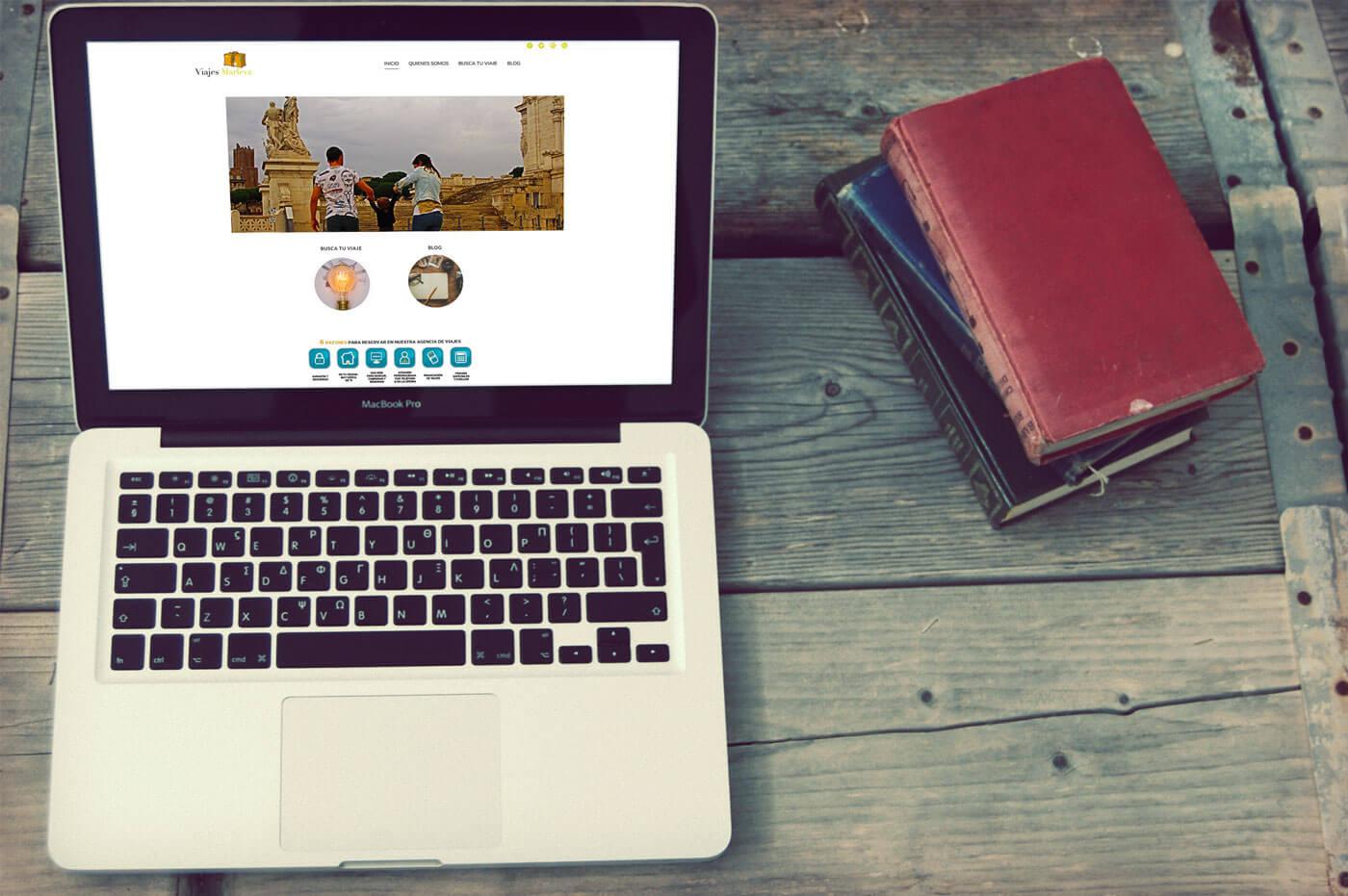 Los viajes de Marleva Diseño Web