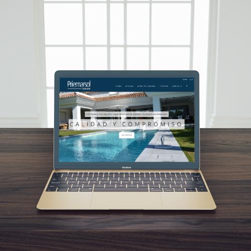 Diseño página web para constructora en Marbella