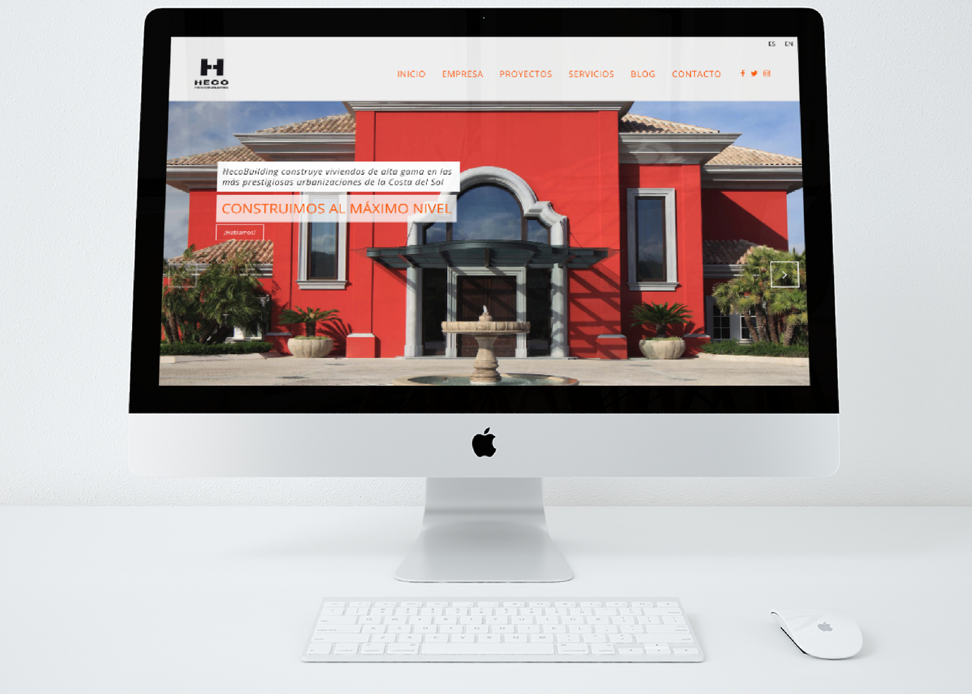 Diseño web para constructora de viviendas de alta gama en Marbella