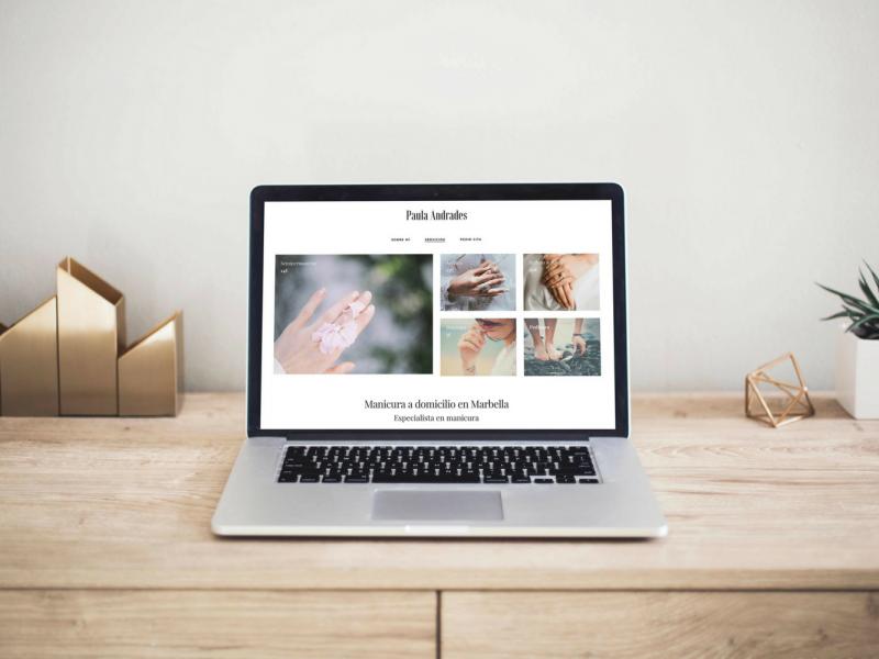 Diseño web para especialista en manicura en Marbella